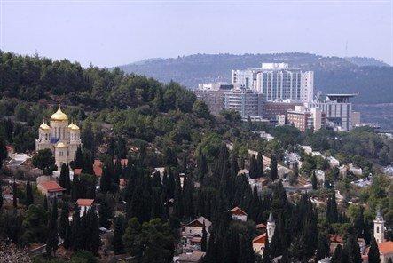 Вид на комплекс Хадасса Ейн Карем от Горненского Женского Монастыря
